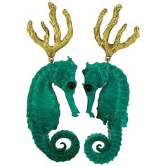 Yves Saint Laurent YSL Vintage Sea Life Dangling Earrings | 1stdibs.com