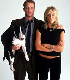 """Keen Eddie.  2003.  One season, 13 episodes.  Mark Valley, Julian Rhind-Tutt (not shown), Sienna Miller, and a dog in a quirky cop show about an American in London.  Fox only aired seven episodes, and changed nights for the last one.  Fox did the same sort of screwing around with """"Firefly"""" and """"The Finder"""".  I like all three shows.  Episode 12 is not available on YouTube.  I was able to watch it on the Mac  using filenuke and lots of buffering time, but I couldn't watch it on the iPad at…"""