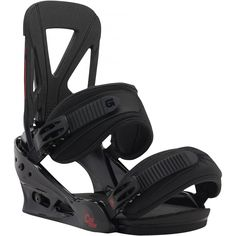Burton uses the best technology and innovations to make some of the best snowboard bindings around, along with the best snowboards and boots. Of snowboarding brands, Burton is a binding leader. Burton Custom Snowboard, Burton Snowboard Bindings, Burton Snowboards, Snowboarding Brands, Skate, 17 Black, Large Black