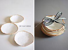 DIY clay bowls