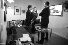 Boston Globe Reporters Michael Rezendes, Sacha Pfeiffer talk with host Seth Meyers Backstage on (November 19, 2015)