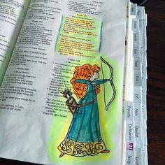 "Merida made her way into my bible journaling. #psalm127 ""Behold children are a…"