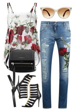 """""""Untitled #1752"""" by erinforde ❤ liked on Polyvore featuring Dolce&Gabbana, Givenchy, Topshop and Tom Ford"""
