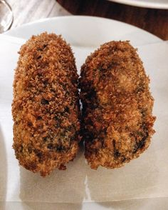 Squid ink croquetas in Santa Gula, Barcelona. Picture taken by Barcelona Food Experience. http://www.barcelonafoodexperience.com/