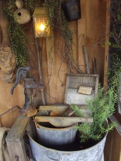 Primitive pump & wash stand on porch Frame the picture onto my laundry room. Primitive Laundry Rooms, Primitive Homes, Primitive Antiques, Primitive Country, Primitive Decor, Primitive Furniture, Country Furniture, Prim Decor, Country Decor