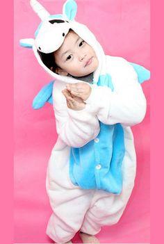 e59275fdd824 Pale Blue Unicorn Kids Onesie