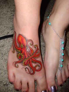 red octopus tattoo.... I dont want an octopus tattoo i just love the color