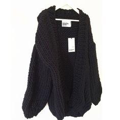 Black & White. #thecardigan #black #preorder #wool #handmade #heartworking #knitwear #australia #ilovemrmittens  (at www.ilovemrmittens....