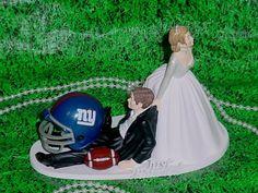 NY Giants Football Fan Sports Couple Groom by splendorlocity, $79.97