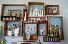 Re-purpose old drawers as shelves! #DesignHack