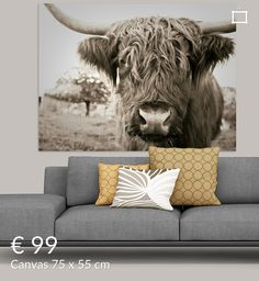 Elephant Poster, Animal Decor, Bison, Cows, Bedrooms, Design Ideas, Posters, Living Room, Interior Design