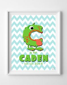 Caden Print Alphabet Print Initials Custom Initial by InkistPrints
