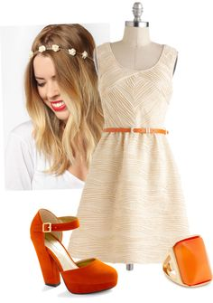 """dreamsicle"" by chargergirlz on Polyvore"