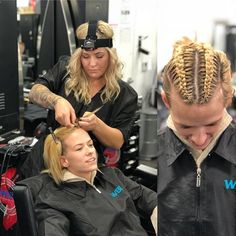 One of our students kasey doing some great braids on one of our other students Olivia! Using the GoPro to give a quick demo! Come by our Van Nuys location to get your braids done