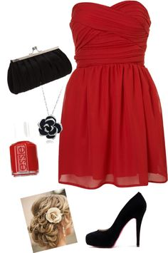 """""""Glamorous Red"""" by musicalmallory on Polyvore"""
