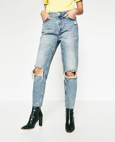 Image 2 of CROPPED MOM JEANS from Zara