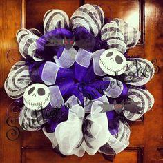 Jack Skellington wreath that you can use on 2014 Halloween - nightmare before Christmas wreath  #2014 #Halloween