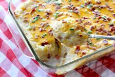 Fully Loaded Potluck Potato Bake - In our opinion, one of the best potato side dishes there is.