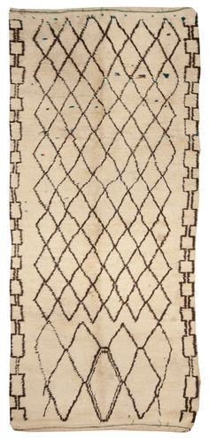 A Moroccan Rug  BB5039 - by Doris Leslie Blau.  A Vintage Moroccan Rug with a diamond motif characteristic of tribal berber designs ...