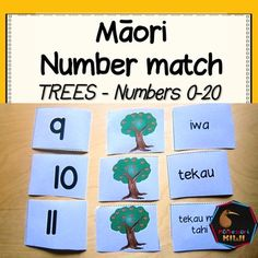 Maori counting or Maori number work that helps students identify numbers Students learn the numbers from by matching the numeral, maori word a Student Learning, Kids Learning, Maori Words, Picture Tree, Esl Resources, Number Matching, Number Words, Classroom Environment, Kili