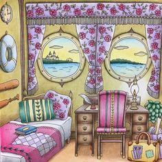 133 個讚,7 則留言 - Instagram 上的 ゆうか(@marisumi0801):「 ロマンティックカントリーより「エレナの旅立ち」 ☆ 久しぶりの塗り絵の投稿になりました。チンタラ塗って、やっと完成です ☆ #romanticcountry… 」