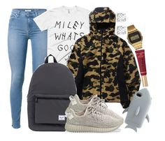 """Herschel Supply Co., BAPE and Yeezy Boost 350"" by camrzkn ❤ liked on Polyvore featuring Herschel Supply Co., STELLA McCARTNEY, Too Faced Cosmetics, G-Shock, Asprey and adidas Originals"