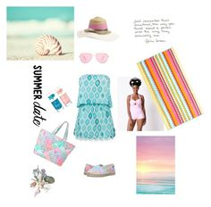 """Summer Date"" by kikikoji on Polyvore featuring Lilly Pulitzer, ELIZABETH HURLEY beach, Isabel Marant, Unique Vintage, Collection XIIX, beach and summerdate"