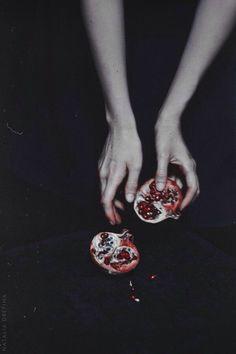 HIGH PRIESTESS | The Pomegranate symbolizes  fertility, death, and eternity (Greek Myth)
