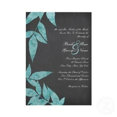 http://www.zazzle.ca/teal_and_grey_leaves_vintage_wedding_invitations-161218611049836454