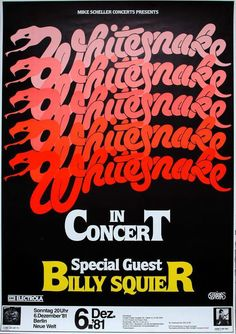 Whitesnake Concert Poster https://www.facebook.com/FromTheWaybackMachine/