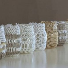Crochet jar covers