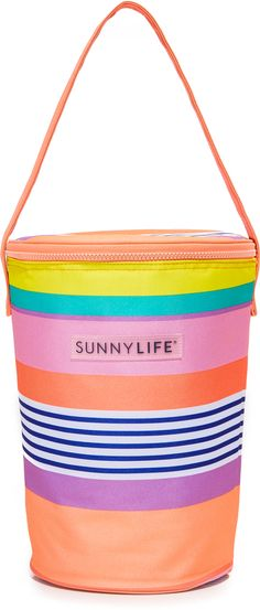 SunnyLife Havana Cooler Tote. Love this colorful striped tote to keep your drinks cold for the pool or beach