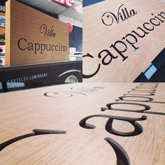 @logotec3d cajón en chapón marino con letras caladas. Plywood box with cutout letters #letras #madera #rotulos #malaga #letters #wood #signs