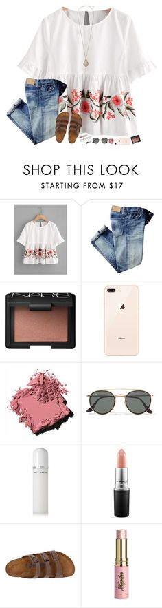 """""""make this week a good one:)"""" by hopemarlee ❤️ liked on Polyvore featuring NARS Cosmetics, Bobbi Brown Cosmetics, Ray-Ban, Marc Jacobs, MAC Cosmetics, Birkenstock, Kandee and Kendra Scott"""