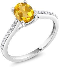 10K White Gold Ladies January Birthstone 1.97ct Garnet Oval Shape Gemstone