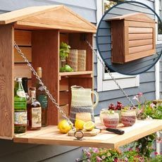 This is such a good idea!  I've built a couple of similar cubbies for outdoor use--one for all of the spray nozzles near the garden hose and one in the carport for our grandsons' sidewalk chalk and bug-catching gear.  Great to have what you need close at hand!!