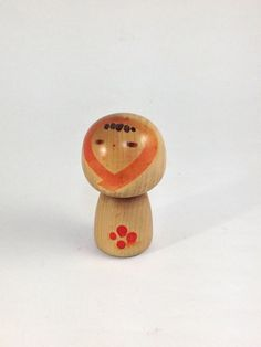"""Japanese Kokeshi doll, 3.3"""" tall, By Sanpei"""