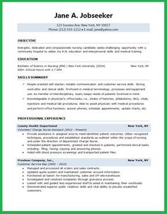 Student Nurse Resume Registered Nurse Resume Sample  Work  Pinterest  Registered