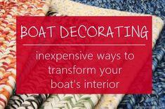 Boat Decorating - Inexpensive Ways to Transform Your Boat Interior - Sailboat Interiors Sailboat Living, Living On A Boat, Sailboat Interior, Yacht Interior, Cuddy Cabin Boat, Boat Organization, Liveaboard Sailboat, Trawler Boats, Boat Bed