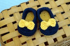 Baby Ballet Flats with Bow, Crochet