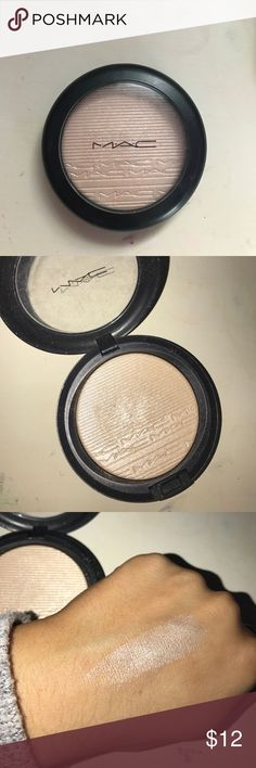MAC highlighter MAC highlighter in double gleam. Used a couple of times only and still has a lot in the pan for use!! Perfect for any skin tone for a great glow MAC Cosmetics Makeup Luminizer
