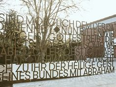 A type wall for the Heilig-Geist Kirche Hamburg. A homage to the transparent, minimal and geometric designs of the church´s architect Otto Andersen (1924 – 1981). The freestanding installation, consisting of 900 metal carved letters, is located along the entrance path to the church. Despite its vast dimension, the wall structure remains diaphanous and fragile, [...]