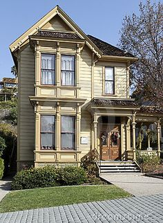 Victorian home at Old Town San Diego's Heritage Park. Heritage Park is a county parks and recreation owned eight acre display of preserved late 1800's homes and cottages.