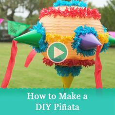 Create your own DIY pinata out of party supplies and a paper lantern, then use leftover party hats and streamers to decorate for the #birthday party!