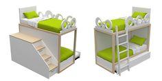 Boxer di DearKids, letti soppalco per bimbi e ragazzi su NOmadeDESIGN http://www.nomadedesign.com/index.php/prodotti/design-per-bimbi