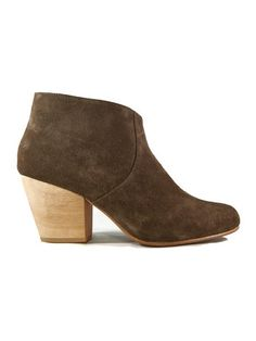 Fortress of Inca Adriana Coco Olive Suede | Kaight $240
