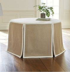 "An Affordable Paneled Round Tablecloth - My Notting Hill 108"" diameter"