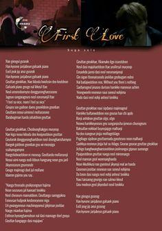 Bts Song Lyrics, Music Lyrics, One Love Lyrics, Suga First Love, Pop Songs, Bts Suga, Wings, Language, Letter D