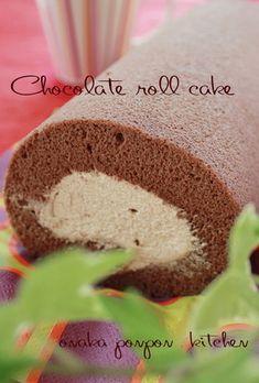 卵白消費♪ チョコロールケーキ♡