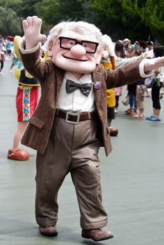 Carl Fredricksen! I wish he was still around for meet-and-greets. At least we have Russell and Dug.